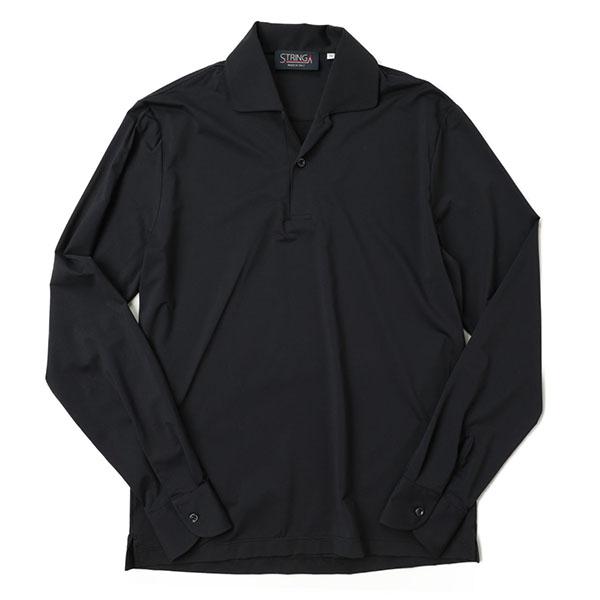 【世界初展開】STRINGA ストリンガ メンズ ポロシャツ 開襟シャツ カフス ストレッチ ナイロン 長袖 POLOJ
